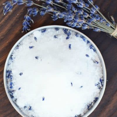 DIY Shimmery Lavender Bath Salt Recipe