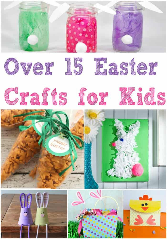 Over 15 Easy Easter crafts for kids. Awesome Easter craft idea and project list that will keep the kids busy on Easter or before! Decorate the house with the DIY craft ideas or have it as an activity on Easter.