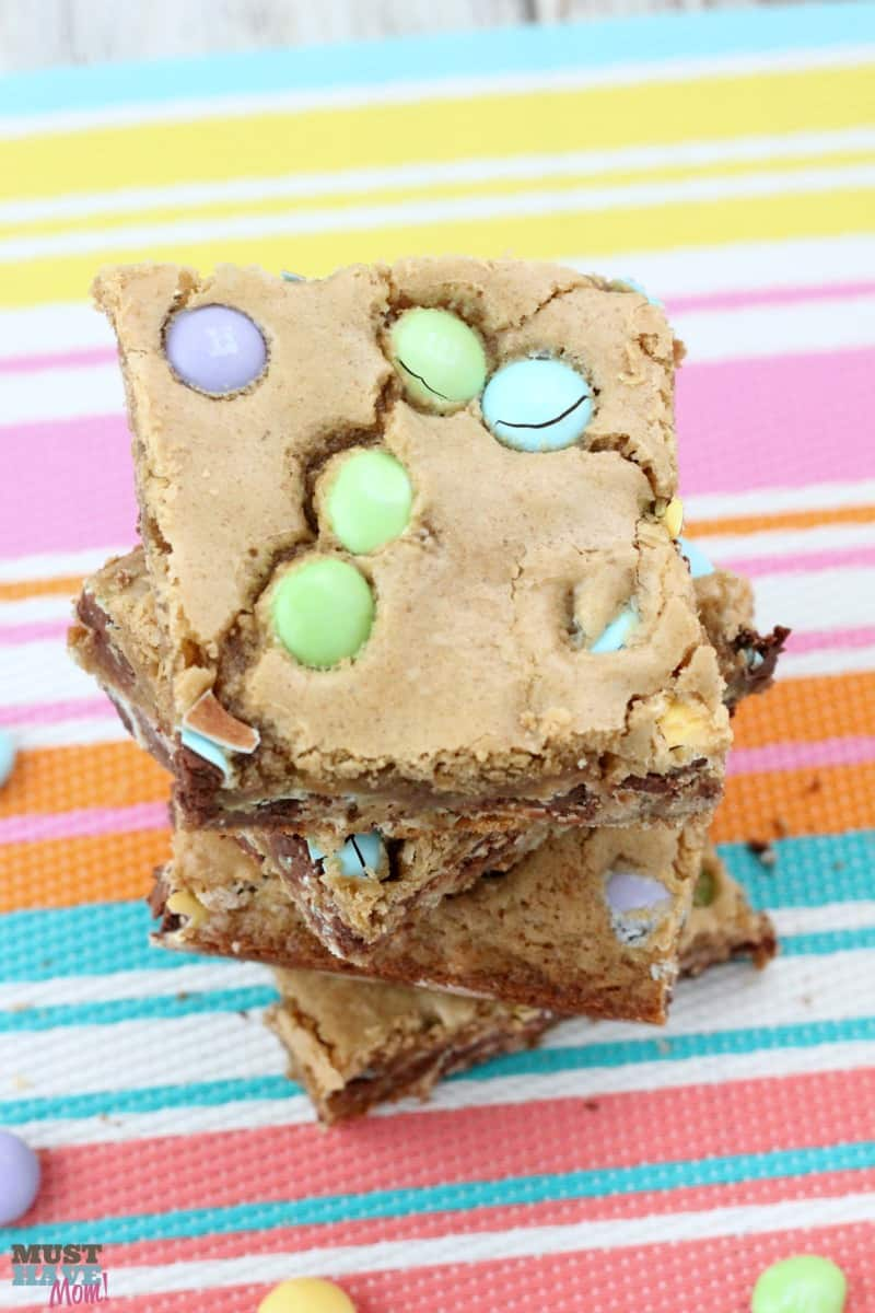 Easter MMsR Cookie Bars Recipe DIY Mini Basket Idea