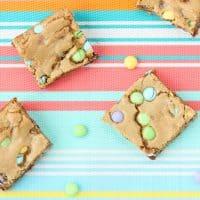 Easter M&M's® Cookie Bars Recipe + DIY Mini Easter Basket Idea