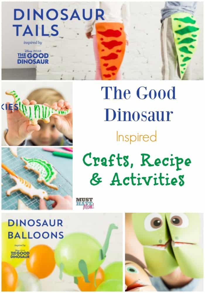 The Good Dinosaur Inspired Crafts, Recipe & Activities With Free Printables. Great for family movie night or The Good Dinosaur party ideas!