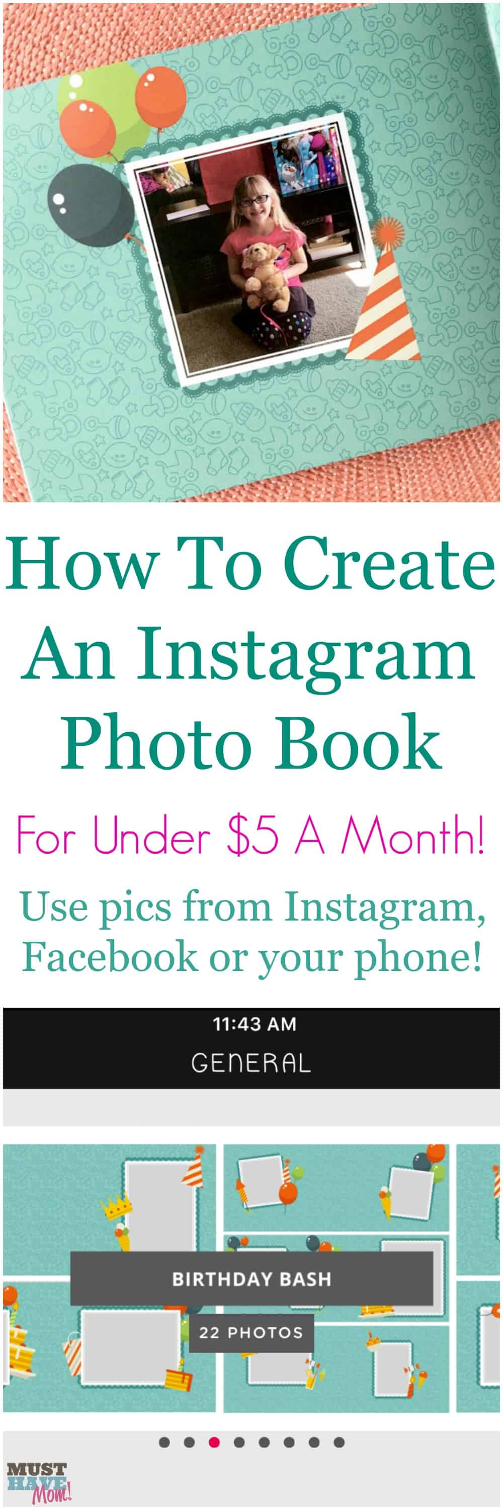How to create an Instagram book for under $5 a month! Create a photo book using pictures from your phone, Facebook, or Instagram. It's quick and easy and the best way to preserve your memories.
