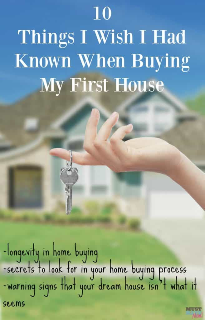 10 Things I wish I had known when buying my first house