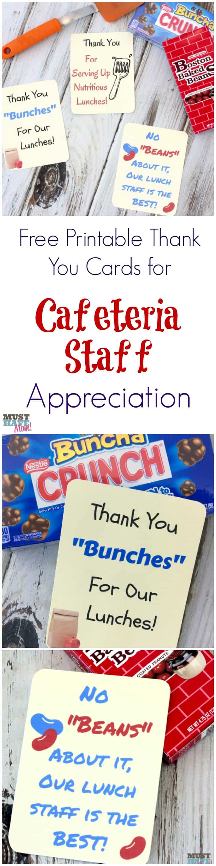 free school lunch hero day printable thank you cards for cafeteria