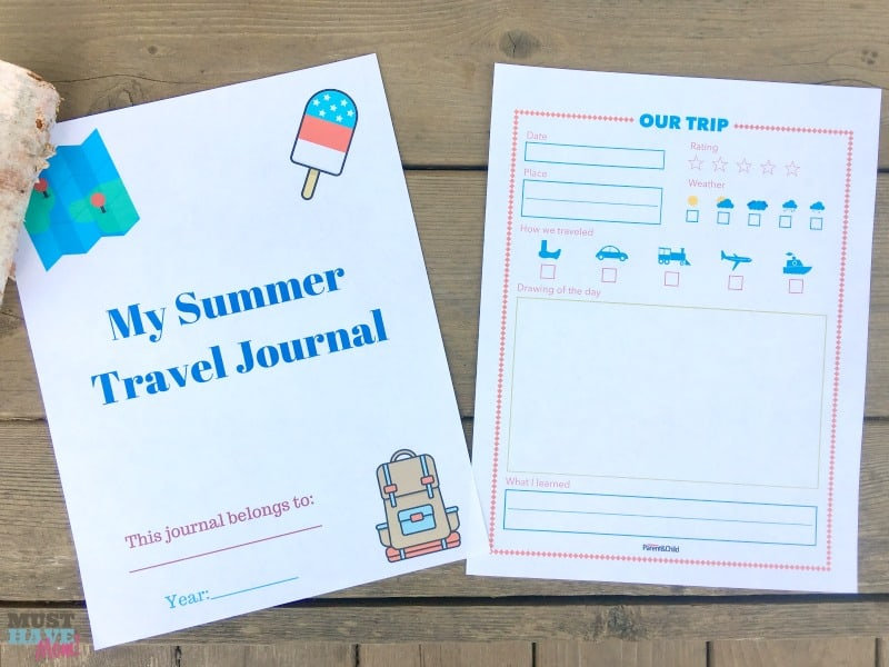 graphic relating to Travel Journal Printable named Free of charge Printable Summer season Drive Magazine For Youngsters + Generate Programs
