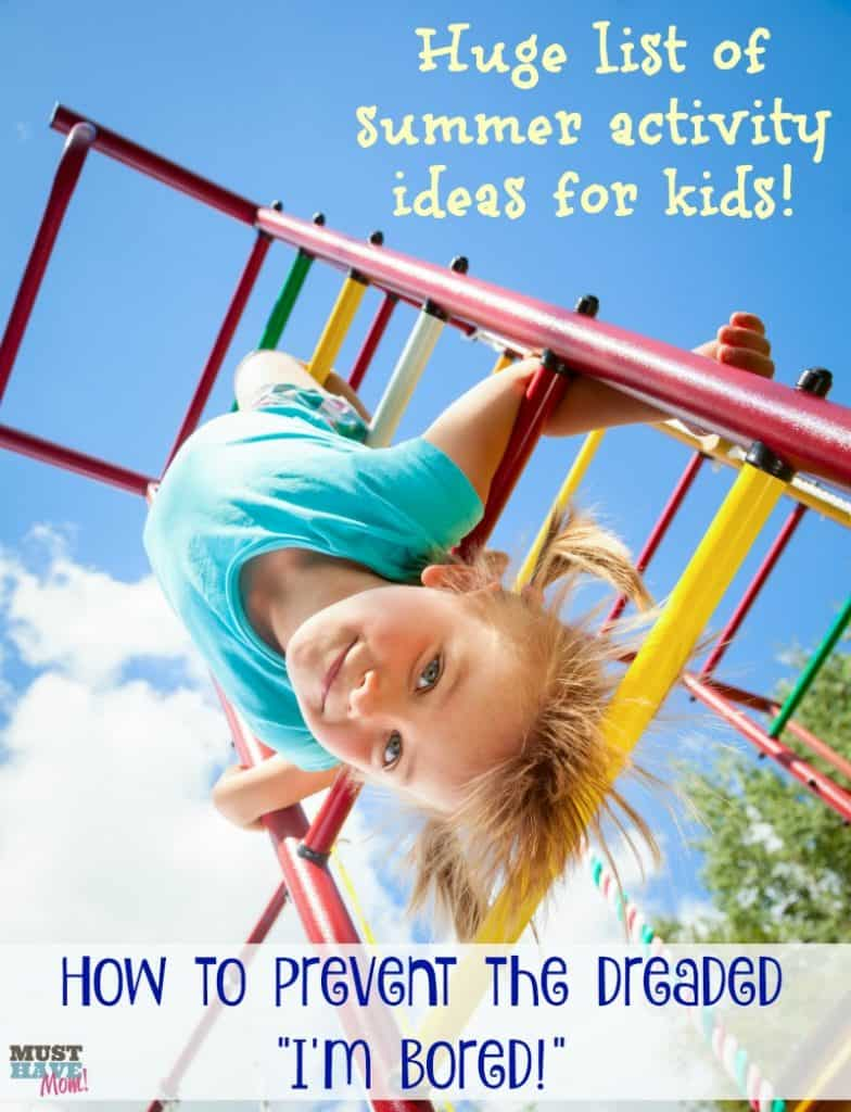 Huge list of things to do this summer for kids! Prevent summer boredom with this awesome list of kids activity ideas!