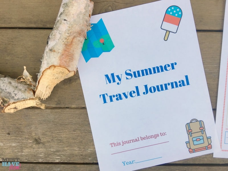 Free printable summer travel journal for kids to record their adventures! Great idea for travel with kids. Kids can make a travel log of their various trips and adventures. Awesome kids activity idea.