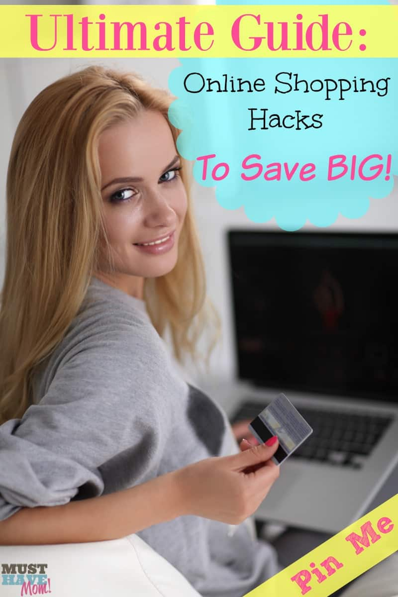 Ultimate guide: online shopping hacks to save big! Top online shopping tips to save tons of money shopping online! Pin for later!