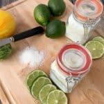 DIY Citrus Mint Epsom Salt Foot Soak For Tired Feet + Pedicure Basket Gift Idea!