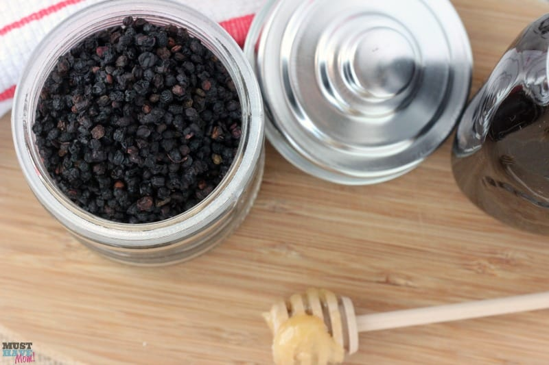 Homemade elderberry syrup recipe. Make your own elderberry syrup for cold and flu prevention and treatment. Great natural remedy!