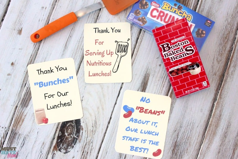 Free School Lunch Hero Day Printable Thank You Cards For ...