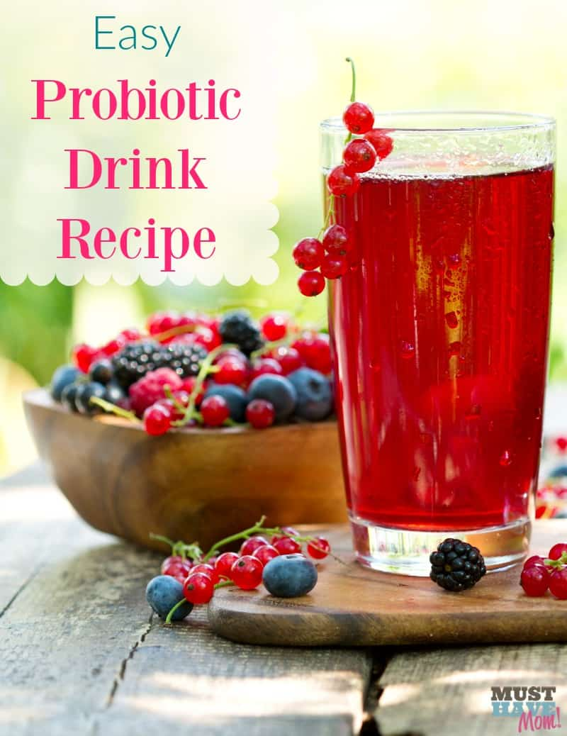 Easy probiotic drink recipe! Easier than kombucha. Helps you lose weight, helps digestion, clearer skin, more energy and more!