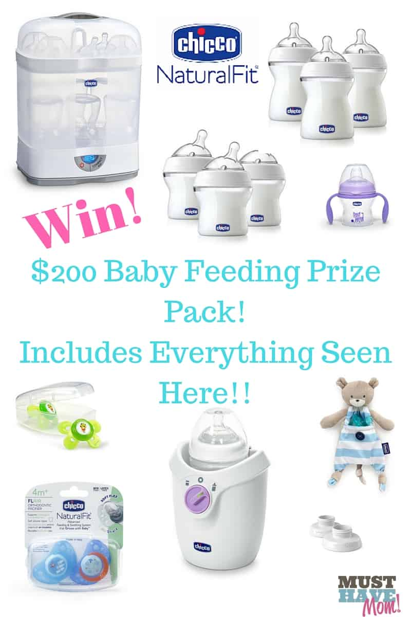 Win a $200 Baby Feeding Prize Pack With Everything You Need To Get Baby Started! Win everything pictured here!