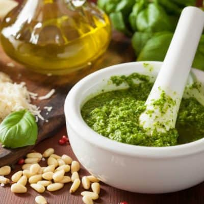 Best EVER Homemade Basil Pesto Recipe
