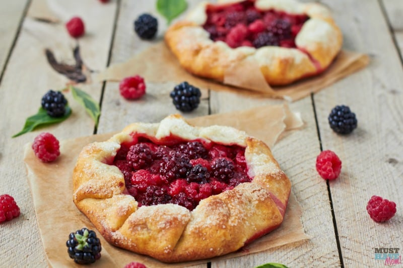 Farmers Market Berry Galette Recipe. Easy free form pie even for the beginning baker! Yummy summer dessert with in season fruit. Sub any fruit for berries to change it up!