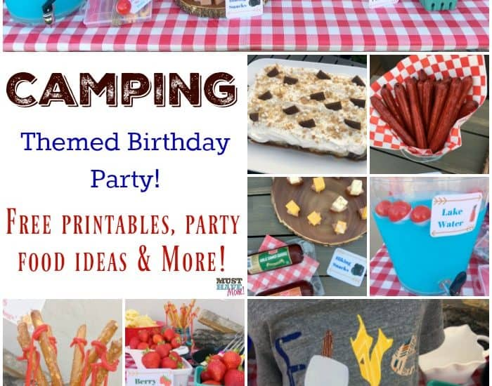 photograph relating to Free Printable Camping Signs identified as Tenting Themed Birthday Bash Recommendations, Tenting Social gathering Food stuff