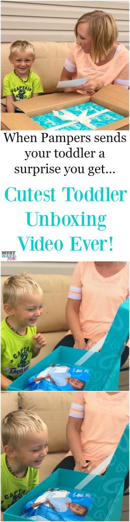 Cutest toddler unboxing video ever