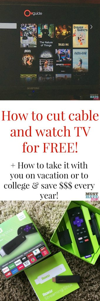 How to cut cable and watch tv for free and even take it on the road