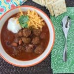 Meatball Chili Recipe For Stove Top OR Slow Cooker!