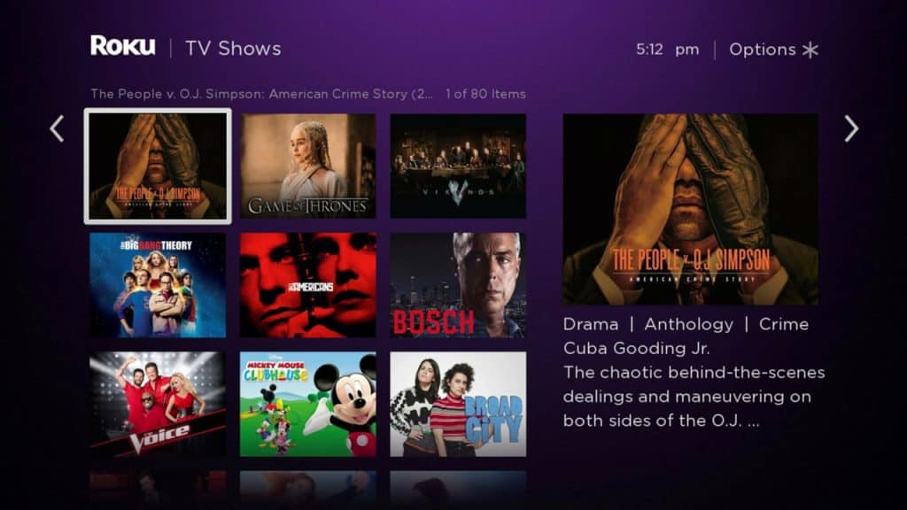 Roku Feed_Top TV Shows