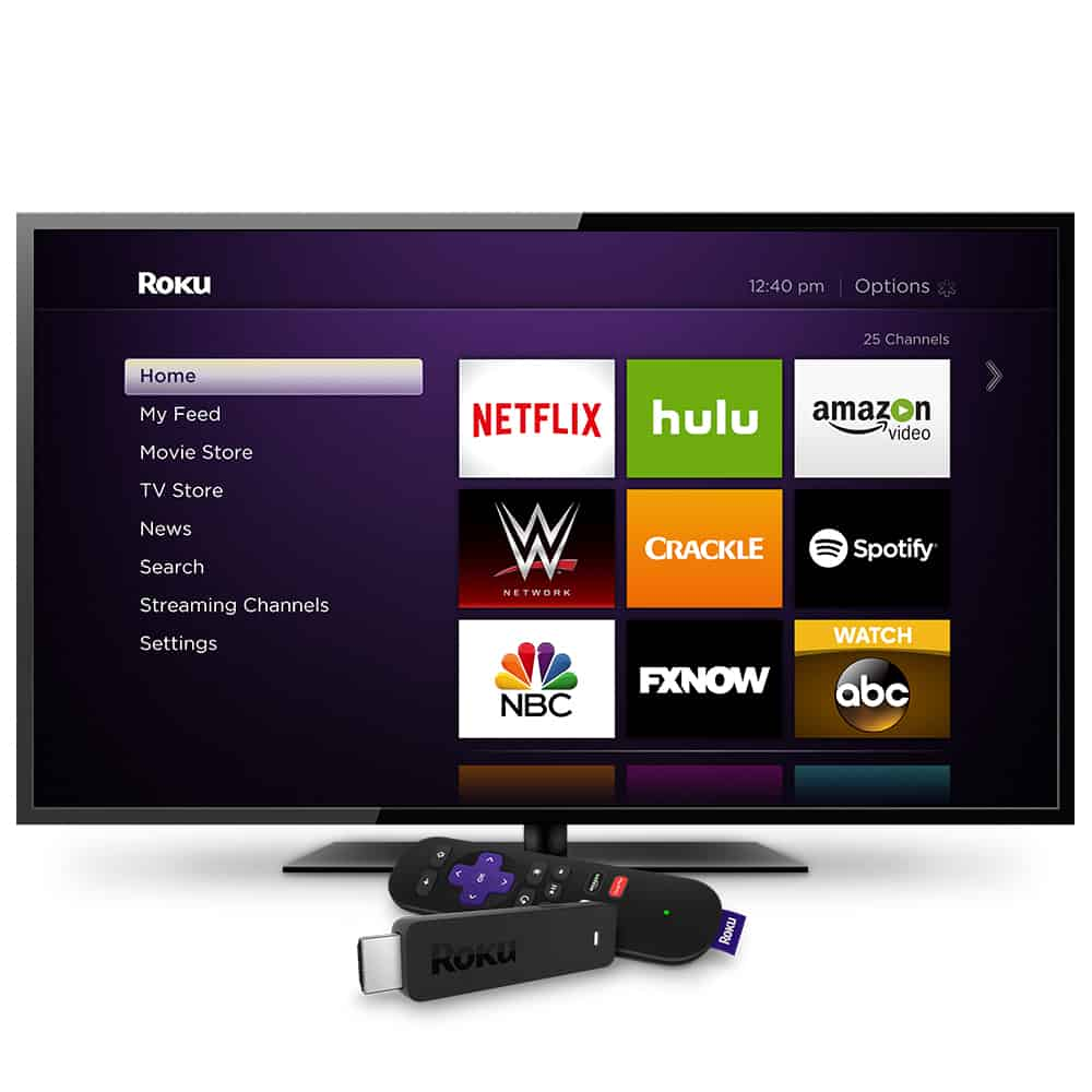 Roku Streaming Stick w_Roku Home Screen