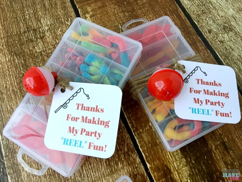 Thanks For Making My Party REEL Fun free printable tackle box favors