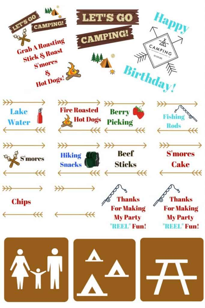 Camping Themed Birthday Party Invitations as perfect invitation layout