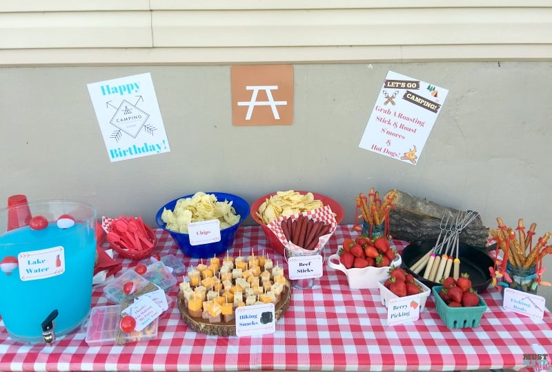 camping birthday party ideas and free printables