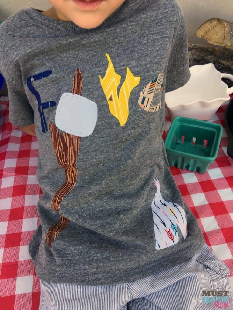 custom camping birthday shirt
