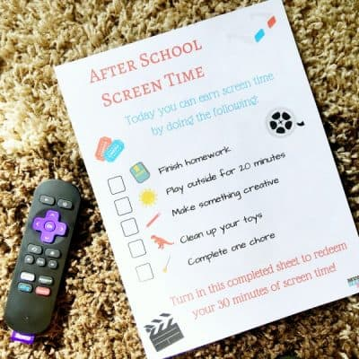 How To Cut Cable and Still Watch Your Favorite Shows (even on the road!) + Free After School Screen Time Printable For Kids!