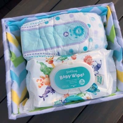 How To Turn a Diaper Box Into A Fabric Covered Basket! No Sew!