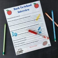 Free Printable Back To School Interview To Do With Your Kids Every Year!