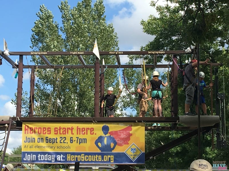 Stop by the Boy Scouts booth at the Minnesota State Fair and check out their FREE ropes course! Sign up your boys on 9/22 @ 6-7pm and new scouts will receive a free superhero cape and frisbee!