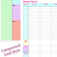 Free Printable Weekly Planner & Weekly Shopping List! + How I Organize My Week