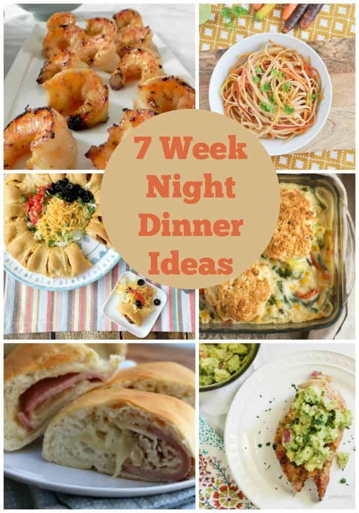 52 weeks of meal planning ideas! 7 Week night dinner ideas. Grab new recipes every week! Week 2 of 52!