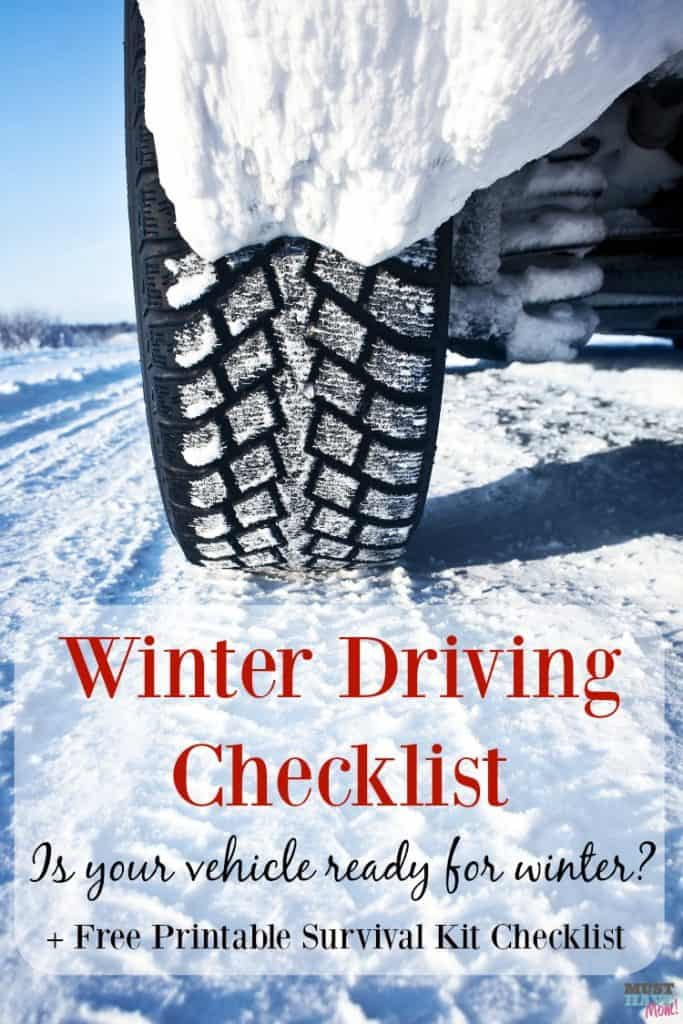Winter driving checklist! Grab this free printable winter vehicle checklist and emergency kit checklist and make sure you are prepared in case you get stranded in the winter!