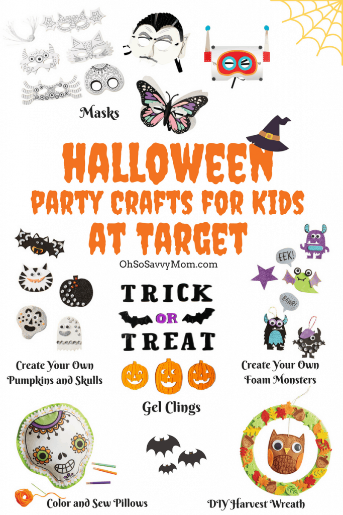 Halloween Party Crafts for Kids. Fun Halloween craft ideas perfect Halloween party activity ideas!