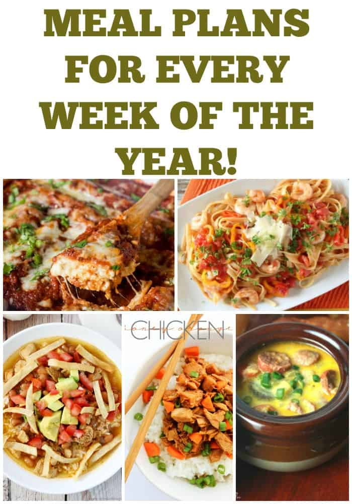 Let's take the stress out of dinner with these great Meal Plans for Every Week of the Year - Week 28