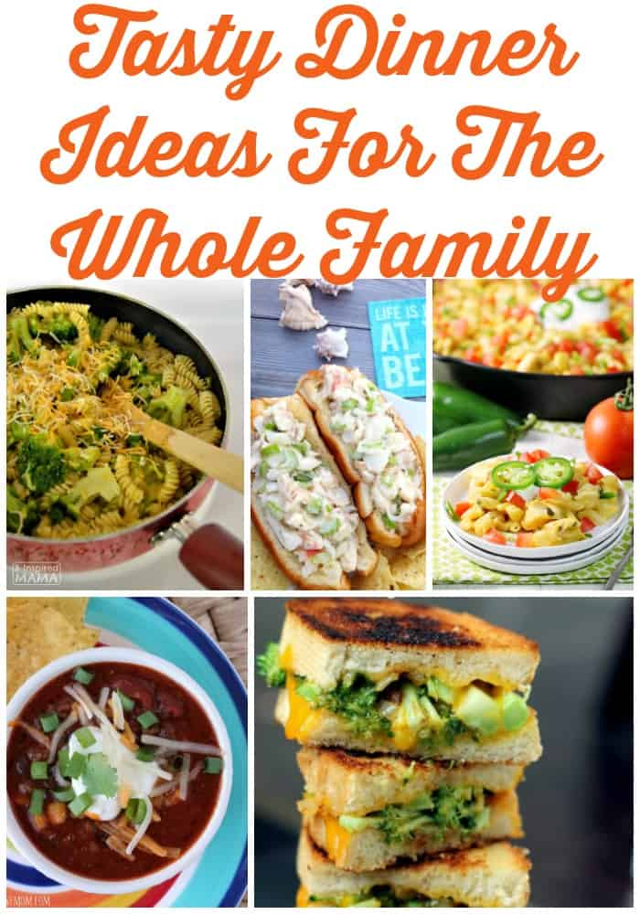 Tasty dinner ideas for the whole family! Grab this free weekly meal plan and mix up dinner time. Perfect weeknight meal ideas for busy families.