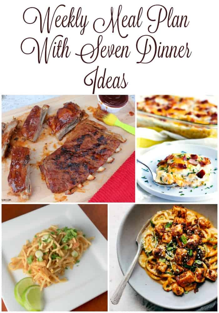 7 dinner ideas for your weekly meal plan! Meal planning made easy with these free weekly meal plans! Grab the recipes now.
