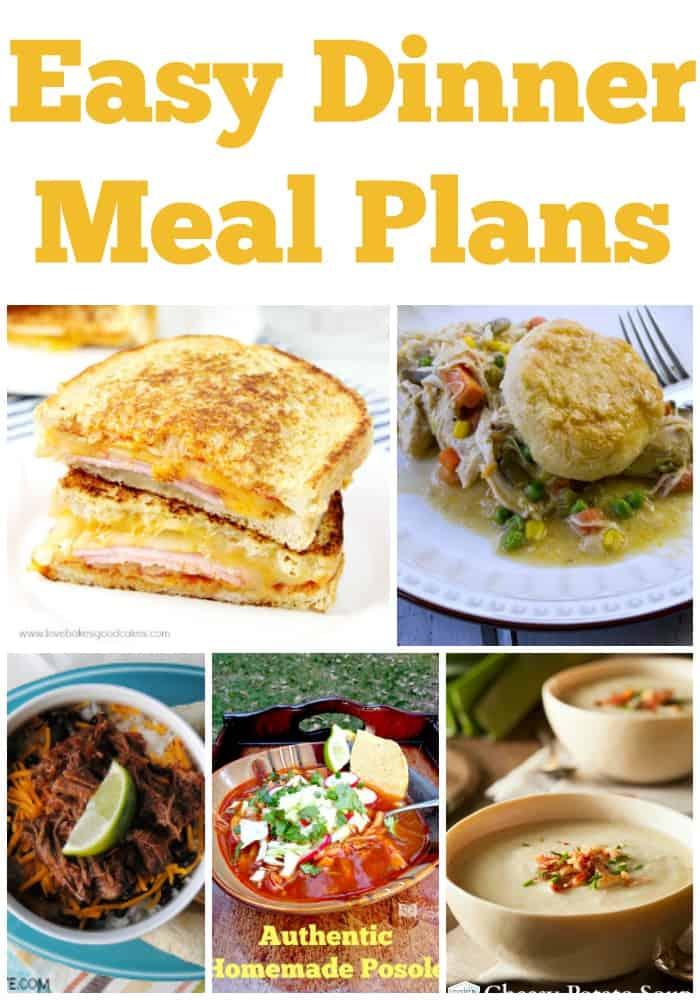 easy dinner meal plans