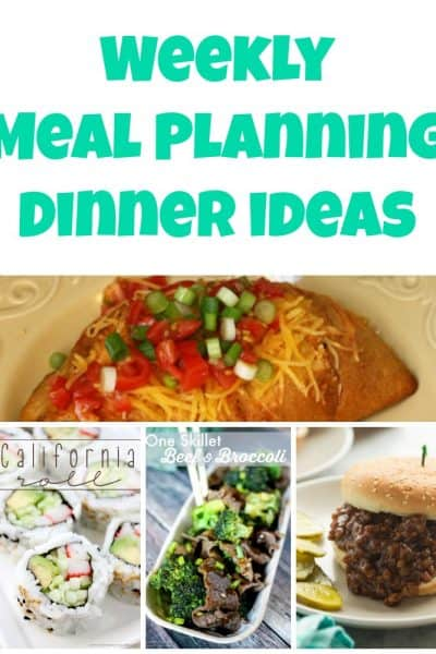 Weekly Meal Planning Dinner Ideas – Week 43