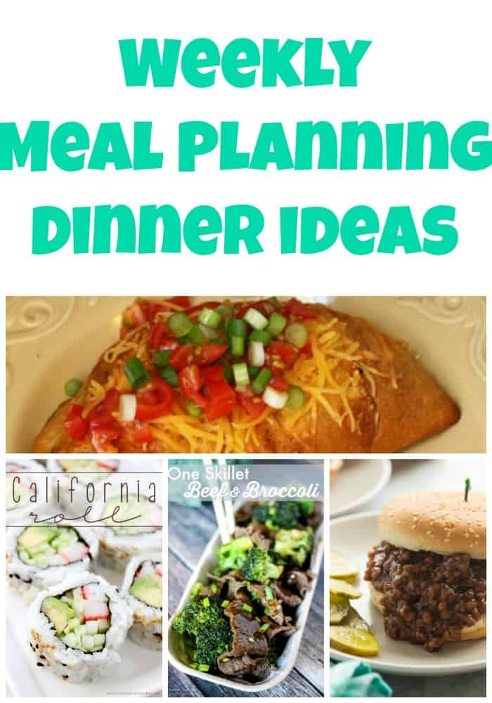 Weekly Meal Planning Dinner Ideas