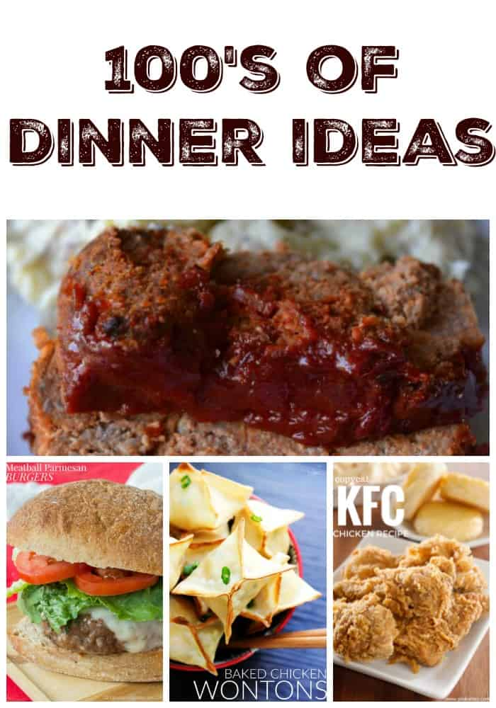 100's of dinner ideas for weekly meal planning inspiration! Easy dinner recipes for busy weeknights.
