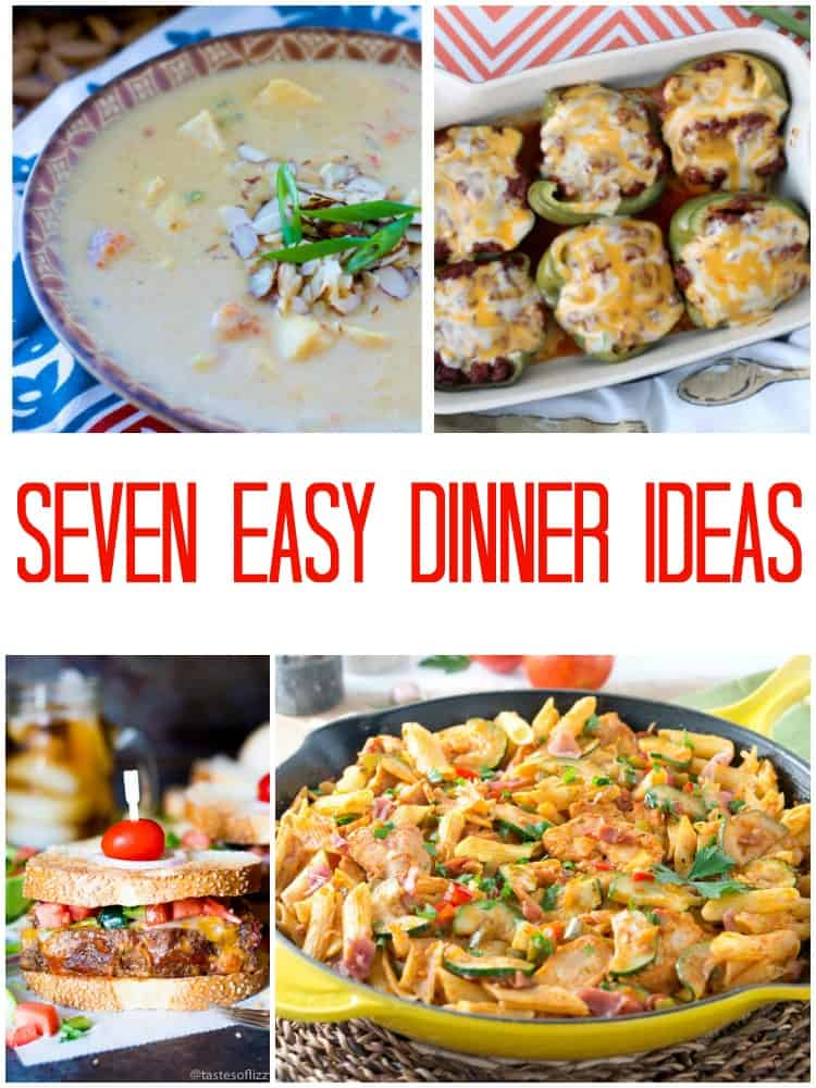 Free Weekly Meal Plan ideas! Grab these easy weeknight meals and mix up your recipe box! These are sure to please busy families and make your meal planning easier.