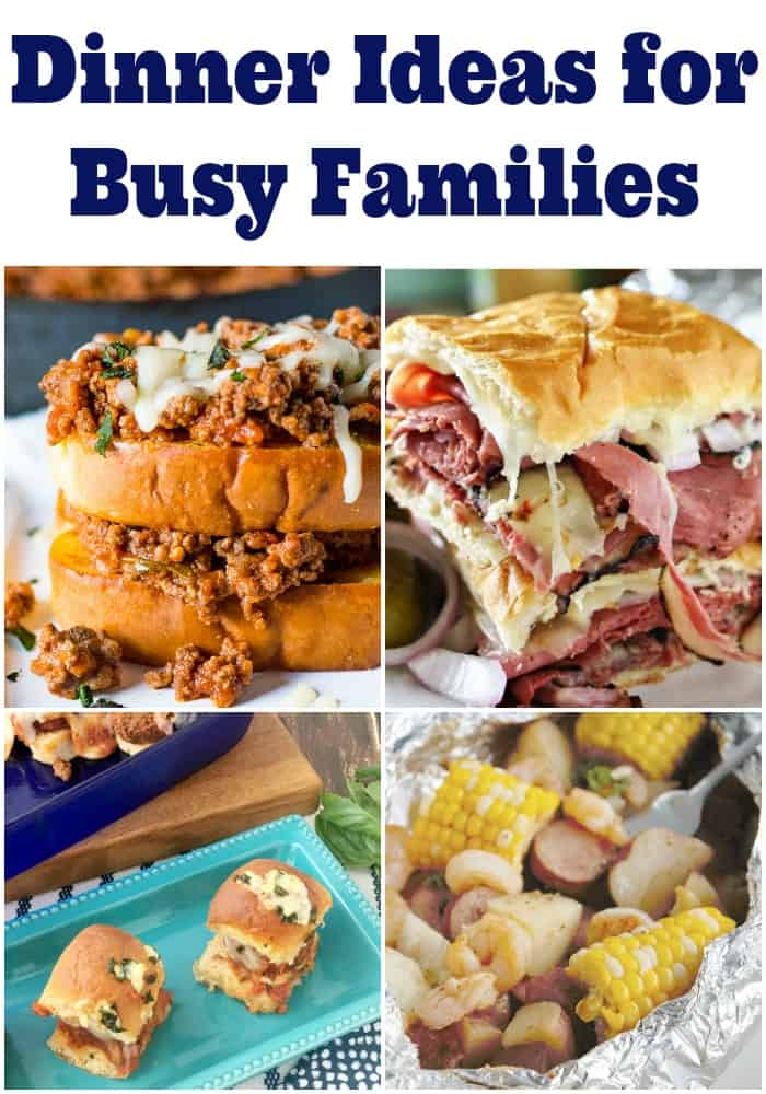 7 dinner ideas for busy families! Great dinner ideas to inspire your weekly meal planning. Good weeknight meals and dinner recipes for everyone.
