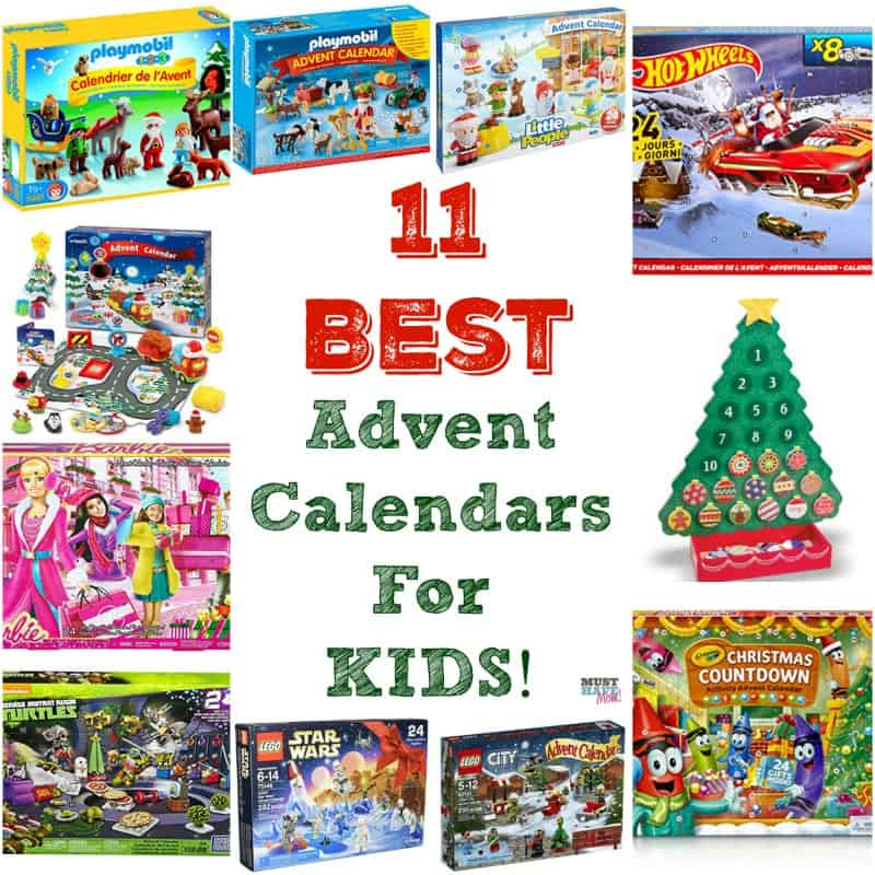 11 best advent calendars for kids! The most popular kids advent calendars! There are advent calendars for toddlers, school-age kids and every interest!