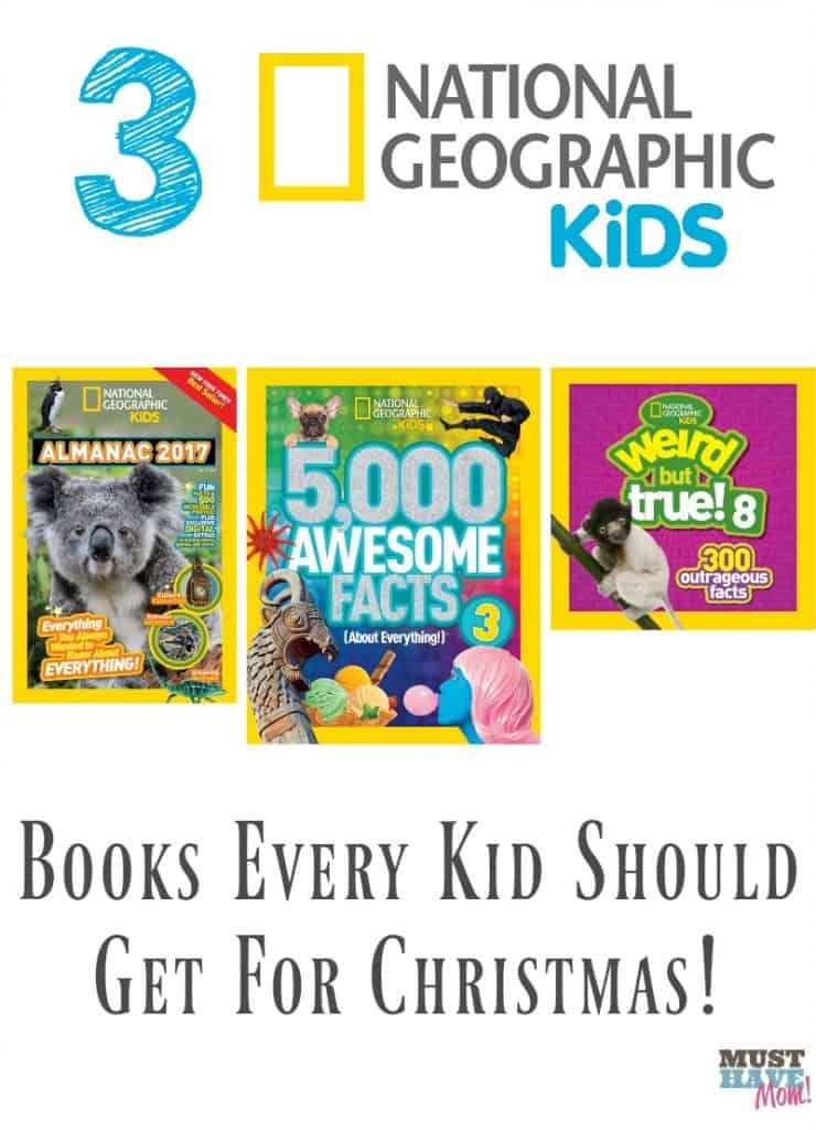 3 National Geographic books you should get every kid for Christmas! Christmas ideas for kids. Educational Christmas ideas for kids.