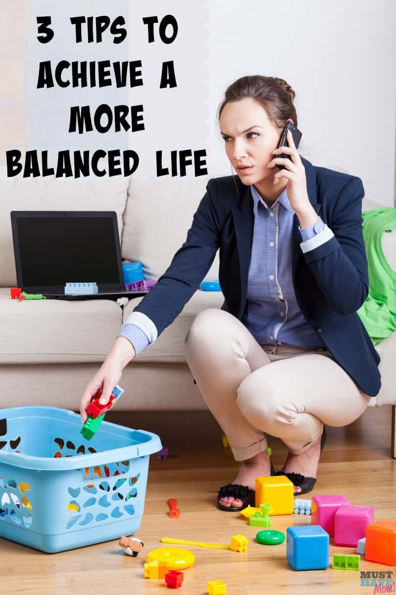 3 Wellness Tips for a Better, More Balanced Life! How to achieve a balanced life as a stay at home mom. Tips for stay at home moms.