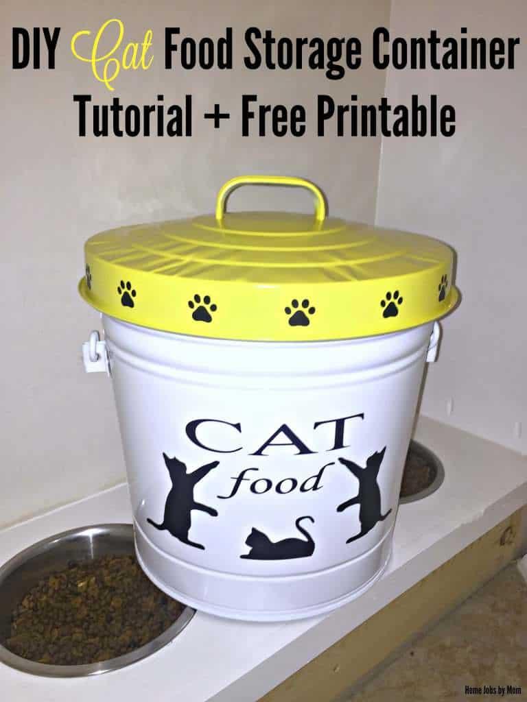 Cat Food Container Diy